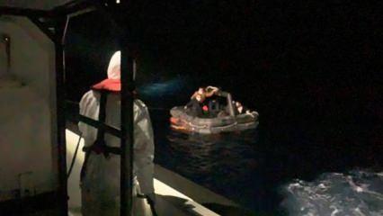 Türk kara sularına itilen 6 düzensiz göçmen kurtarıldı
