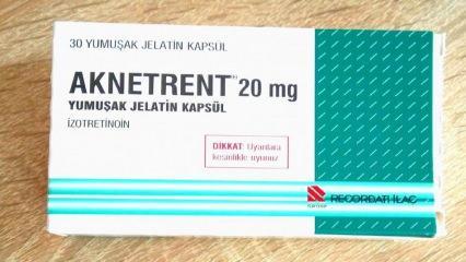 Aknetrent (izotretinoin) nedir ve nasıl kullanılır? Yan etkileri nelerdir?