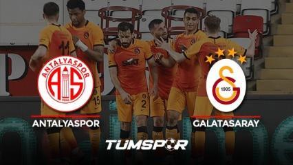 Antalyaspor Galatasaray maçının geniş özeti ve golleri (BeIN Sports) Aslan deplasmanda güldü!