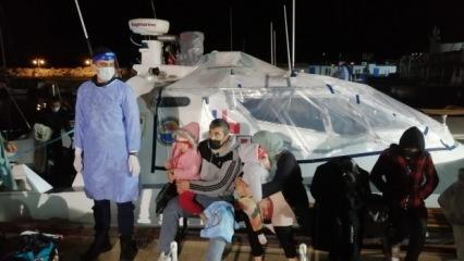 Ayvacık açıklarında 101 kaçak göçmen kurtarıldı