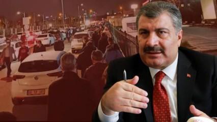 Bakan Koca 'Yeni safhaya geçiyoruz' dedi vatandaşlar yoğun ilgi gösterdi