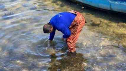 İznik Gölü'nde balıkçıların ağına tarihi eser takıldı!