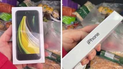 Elma sipariş etti iPhone SE teslim edildi