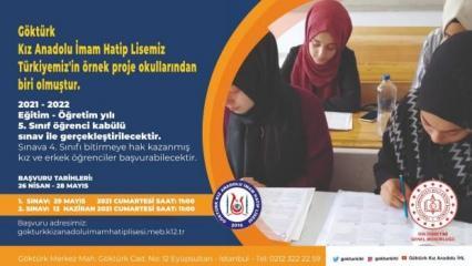 Göktürk Kız Anadolu İmam Hatip Lisesi kabul sınavları başlıyor