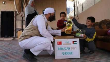 İDDEF, Gazze ve Yemen'de 1000 aileyi sevindirdi