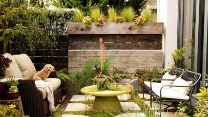 Küçük bahçeler için şık ve rahat bahçe dekorasyonu önerileri