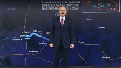 Kuzey Marmara Otoyolu'nun yapım çalışmaları tamamlandı