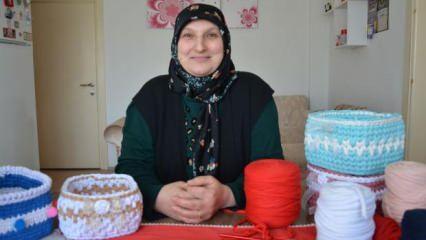 Ordu'da 50 yaşındaki kadın pandemide kendi işini kurdu, sipariş alıyor!