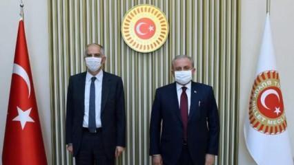 TBMM Başkanı Şentop, Fransa'nın Ankara Büyükelçisi Herve Magro'yu kabul etti