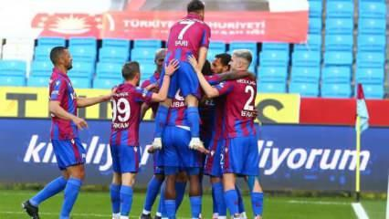 Trabzonspor Djaniny ile 3 puanı kaptı