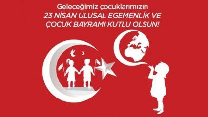 Türk Bayraklı 23 Nisan mesajları! Atatürk resimli en güzel 23 Nisan kutlama sözleri!