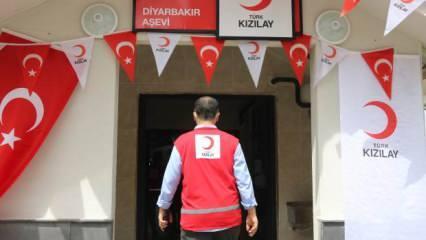 Türk Kızılayı, Diyarbakır'da 10 bin kişilik aşevi kurdu