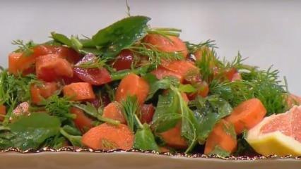 Greyfurt salatası nasıl yapılır? Bol yeşillikli greyfurt salatası tarifi...