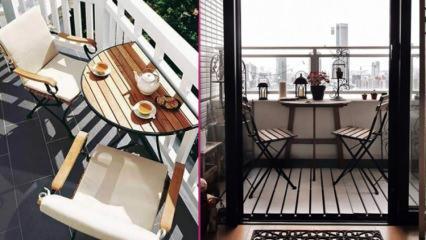 Balkonlar için şık ve kullanışlı balkon masası modelleri