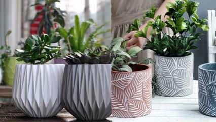 Balkonlarınız için kullanışlı ve dekoratif saksı modelleri
