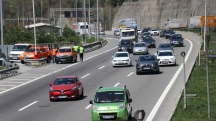 Bolu Dağı'nın 'tam kapanma' bilançosu: 2 günde 100 bin araç