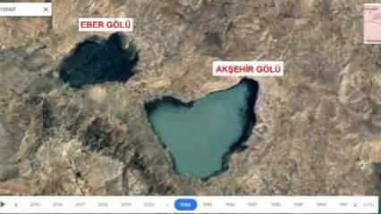 Gölleri vuran kuraklık, 36 yıllık uydu fotoğraflarıyla belgelendi