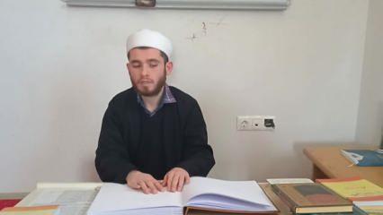 Görme engelli Emre dinleyerek Kuran-ı Kerim'i öğrendi, 2,5 yılda hafız oldu!