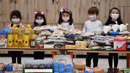 Minikler harçlıklarıyla ramazanda ihtiyaç sahiplerini sevindirdi