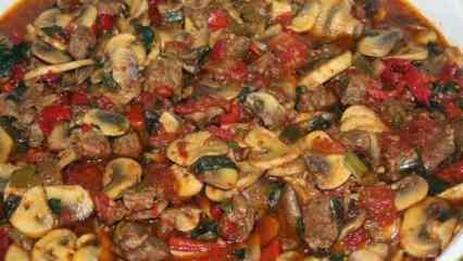 Tavada mantarlı et sote nasıl yapılır? Lezzetli ve pratik mantarlı et sote tarifi...