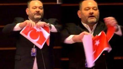Türk bayrağını yırtan vekilin dokunulmazlığı kaldırıldı