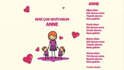 2021 Anneler günü şiirleri: Kısa ve uzun 1, 2, 3, 4, 5 kıtalık anneler günü şiirleri...