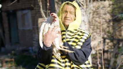 Şarkıcı Aydın Aydın arı ölümlerine dikkat çekmek için arı kostümü giyip hayvanlarla helalleşti