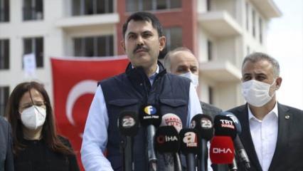 Zeytinburnu'nda çöken binayla ilgili Bakan Kurum'dan açıklama