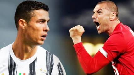 Burak Yılmaz'ın tek rakibi Cristiano Ronaldo