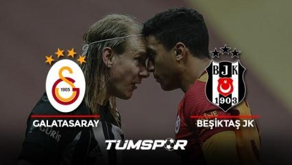 Galatasaray Beşiktaş maçı geniş özeti ve golleri (BeIN Sports) Aslan Kartal'a geçit vermedi