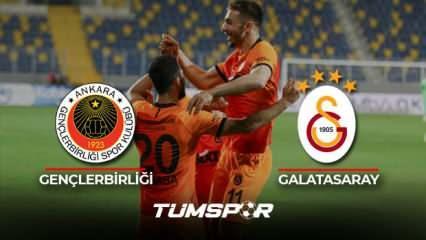 Gençlerbirliği Galatasaray maçı geniş özeti ve golleri (BeIN Sports) Aslan şampiyonluğa tutundu