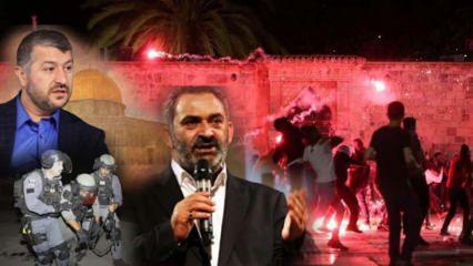Hain İsrail polisleri namaz kılan Filistinli cemaati hedef aldı! Ünlü isimler ayaklandı