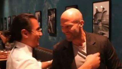 Nusret'in restoranına sürpriz konuk! Jason Statham...