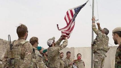 Üste dalgalanan ABD bayrakları indirildi