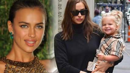 Ünlü Rus model Irina Shayk'ın 4 yaşındaki kızı Lea moda ikonu oldu