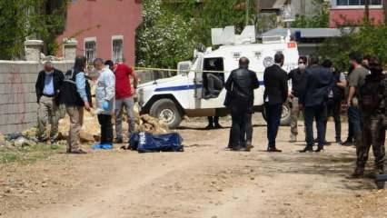 Sokakta yakılmış ceset bulundu:  PKK yazısı dikkat çekti