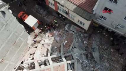 Zeytinburnu'nda bina çöktü!