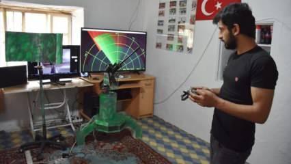 """23 yaşındaki genç """"radar ve silah entegrasyonu sistemi"""" tasarladı"""