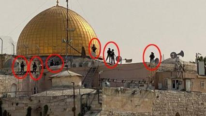 Utanç verici kare: İsrail polisi kutsallarımızı çiğnedi