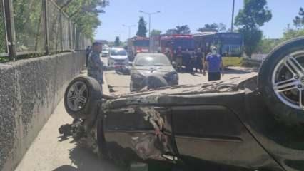 Çekmeköy'de feci kaza