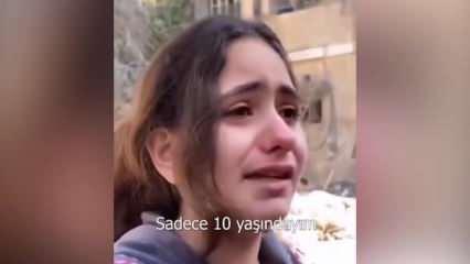 Evleri bombalanan 10 yaşındaki Gazzeli kız dünyaya böyle seslendi