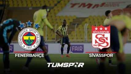 Fenerbahçe Sivasspor maçı geniş özeti ve golleri (BeIN Sports) Kanarya fırsat tepti!