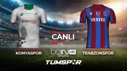 Konyaspor Trabzonspor maçı canlı izle! BeIN Sports Konya TS maçı canlı skor takip!