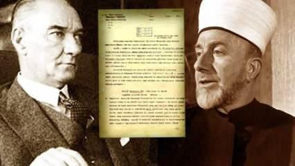 Kudüs Büyük Müftüsü'nün Atatürk'e bundan 84 yıl önce yazdığı kehaneti andıran mektup