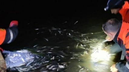 Van'da kaçakçılık operasyonu! 15 ton inci kefali suya bırakıldı