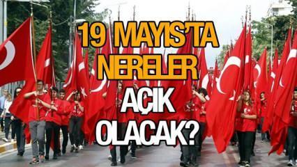 19 Mayıs'ta nereler açık? Bugün Banka, Kargo, Noter ve PTT açık mı? 19 Mayıs resmi tatil mi?