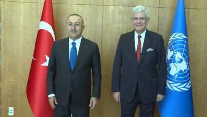 Bakan Çavuşoğlu Volkan Bozkır ile bir araya geldi