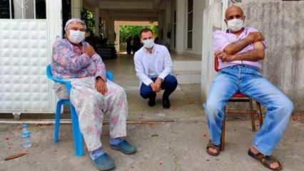 Aydın'da 'aşı ikna ekipleri' aşıdan korkan yaşlı çifti ikna etti