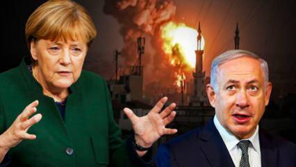 Almanya Başbakanı Merkel'den skandal İsrail-Filistin açıklaması