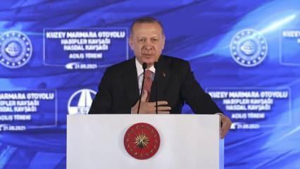 Başkan Erdoğan dev projenin açılışında duyurdu: Meclis'e sunuyoruz